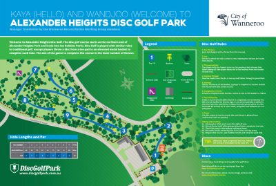 Recreation Activity Design Alexander Heights Disc Golf Park