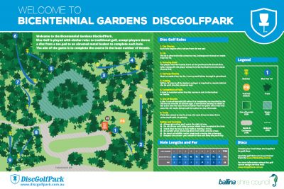 Recreation Activity Design Bicentennial Gardens Disc Golf Park Ballina