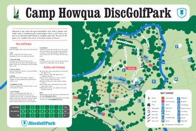 Recreation Activity Design Camp Howqua Disc Golf Park