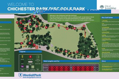 Recreation Activity Design Chichester Park Disc Golf Park Trappers Drive Woodvale