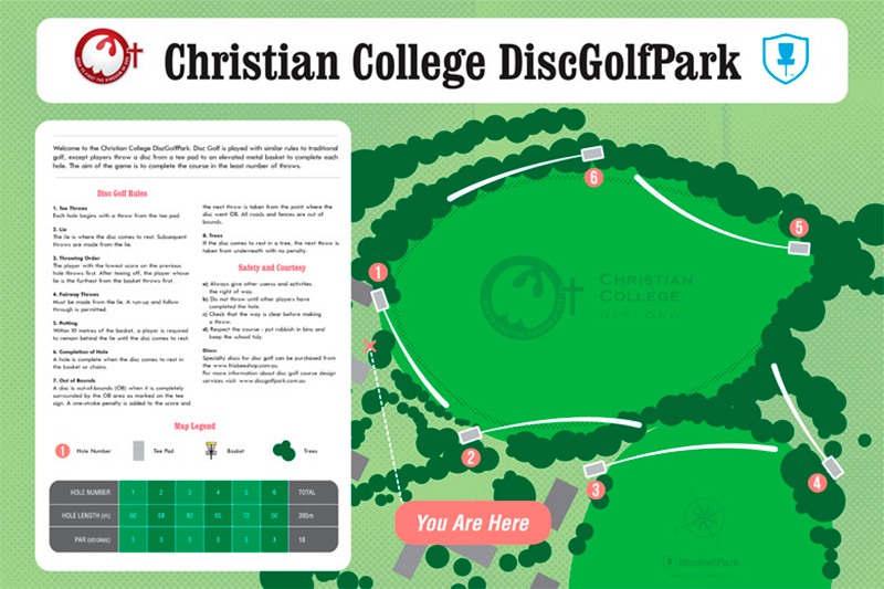 Recreation Activity Design Christian College Disc Golf Park
