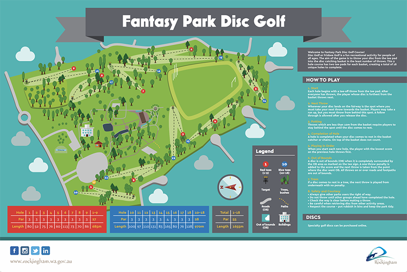 An image of Recreation Activity Design Fantasy Park Disc Golf Rockingham
