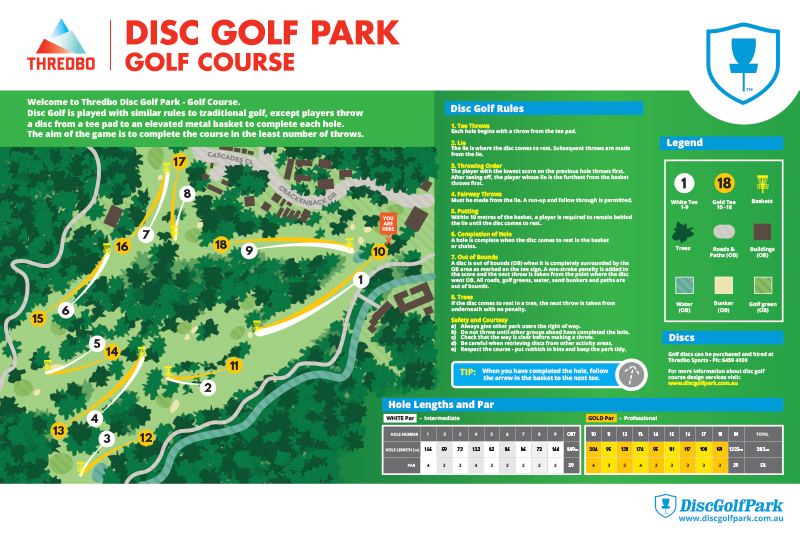 An image of Recreation Activity Design Disc Golf Course Thredbo NSW