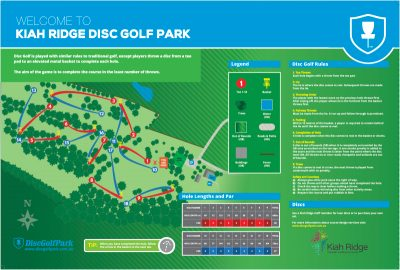 Recreation Activity Design Kiah Ridge Disc Golf Course