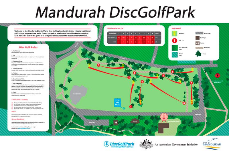 Recreation Activity Design Mandurah Disc Golf Park