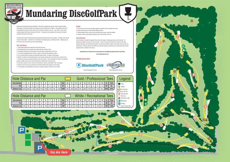 An image showing disc golf park course