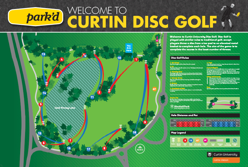 Recreation Activity Design Curtin University Disc Golf Park