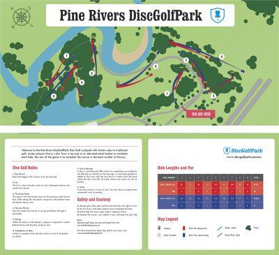 Recreation Activity Design Licola Wilderness Village Pine River Disc Golf Park