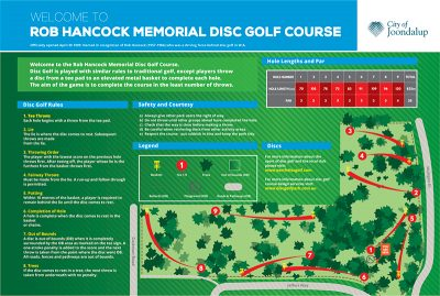 Recreation Activity Design Rob Hancock Memorial Disc Golf Course Greenwood WA