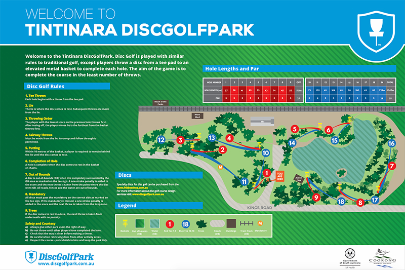 Recreation Activity Design Tintinara Disc Golf Park