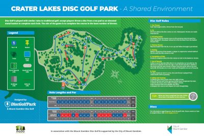 an image of Recreation Activity Design Crater Lakes Disc Golf Park Mount Gambier