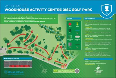 An image of Recreation Activity Design Woodhouse Activity Centre Disc Golf Park