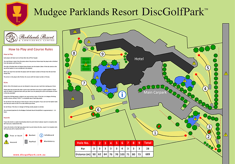 Recreation Activity Design Mudgee Parklands Resort Disc Golf Park