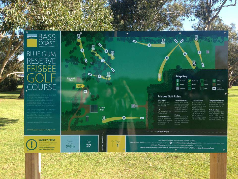 image of the Blue Gum Reserve Disc Golf Course