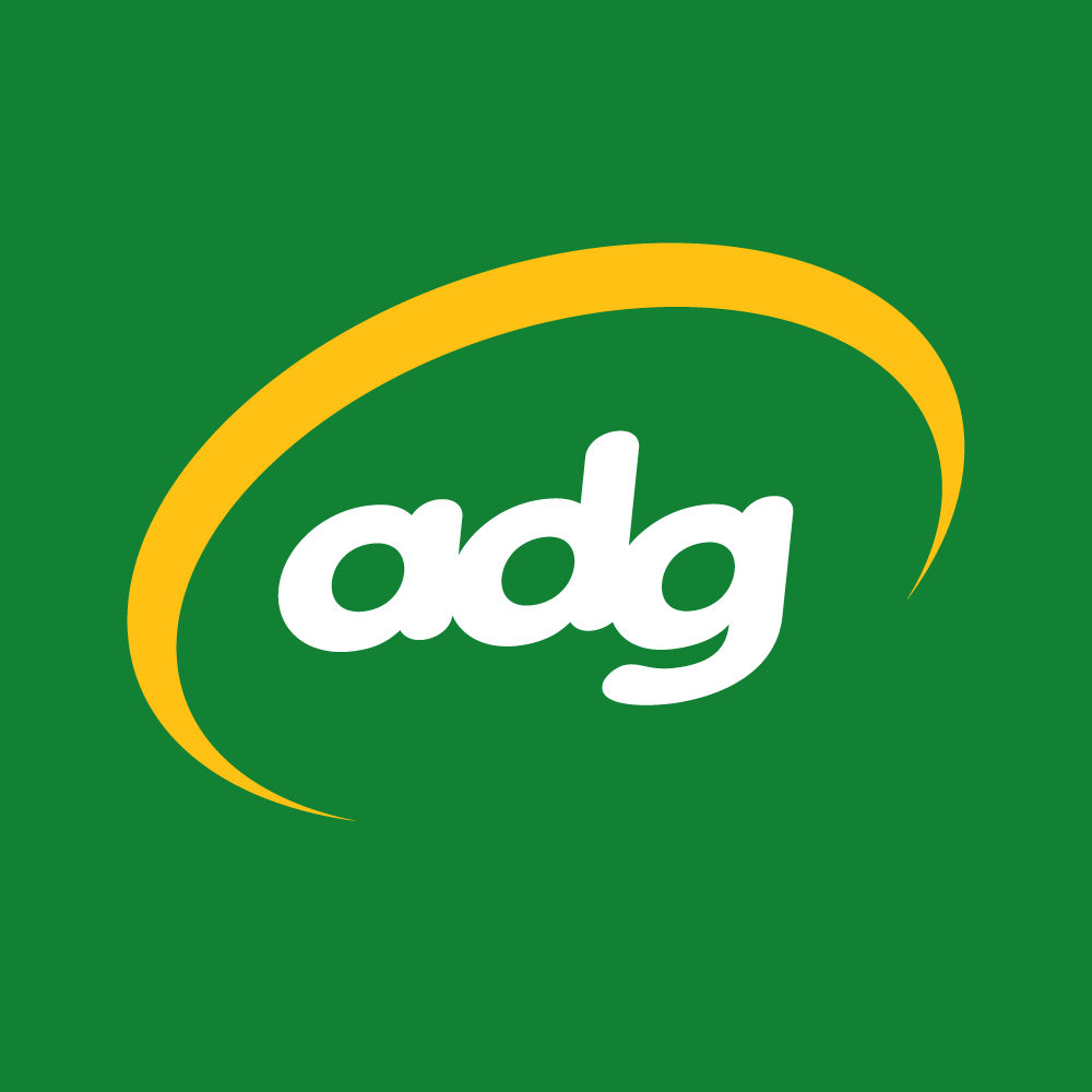 An image of letters of adg the logo of The Australian Disc Golf