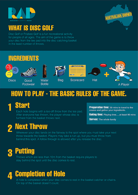 RAD RECREATION ACTIVITY DESIGN REcipe for playing Disc Golf