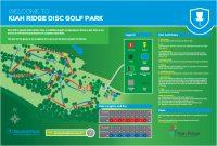 An image showing Kiah ridge disc golf park course