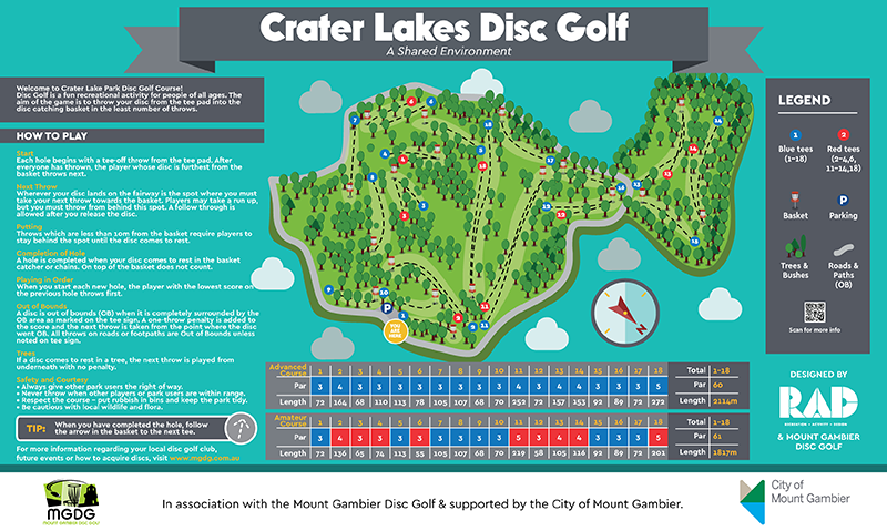 image of the Crater Lakes Disc Golf amp