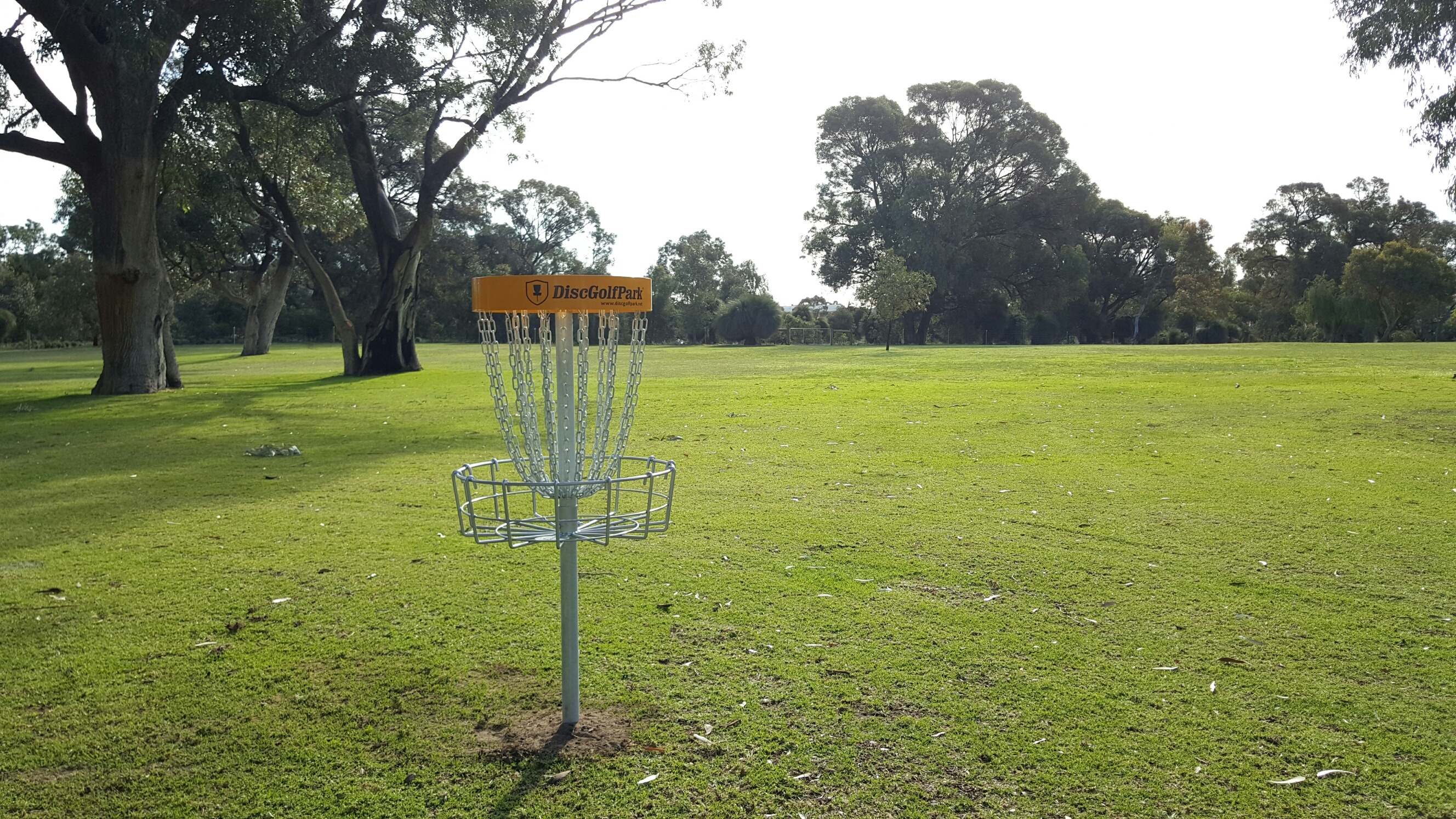 An image showing disc golf park
