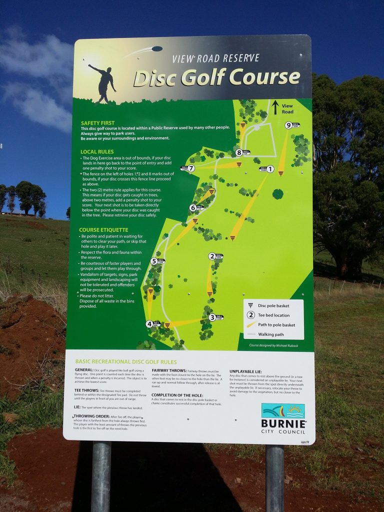 RAD Recreation Activity Design Featured Courses Burnie Disc Golf