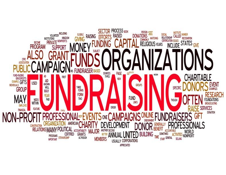 An image of words regarding fundraising organizations