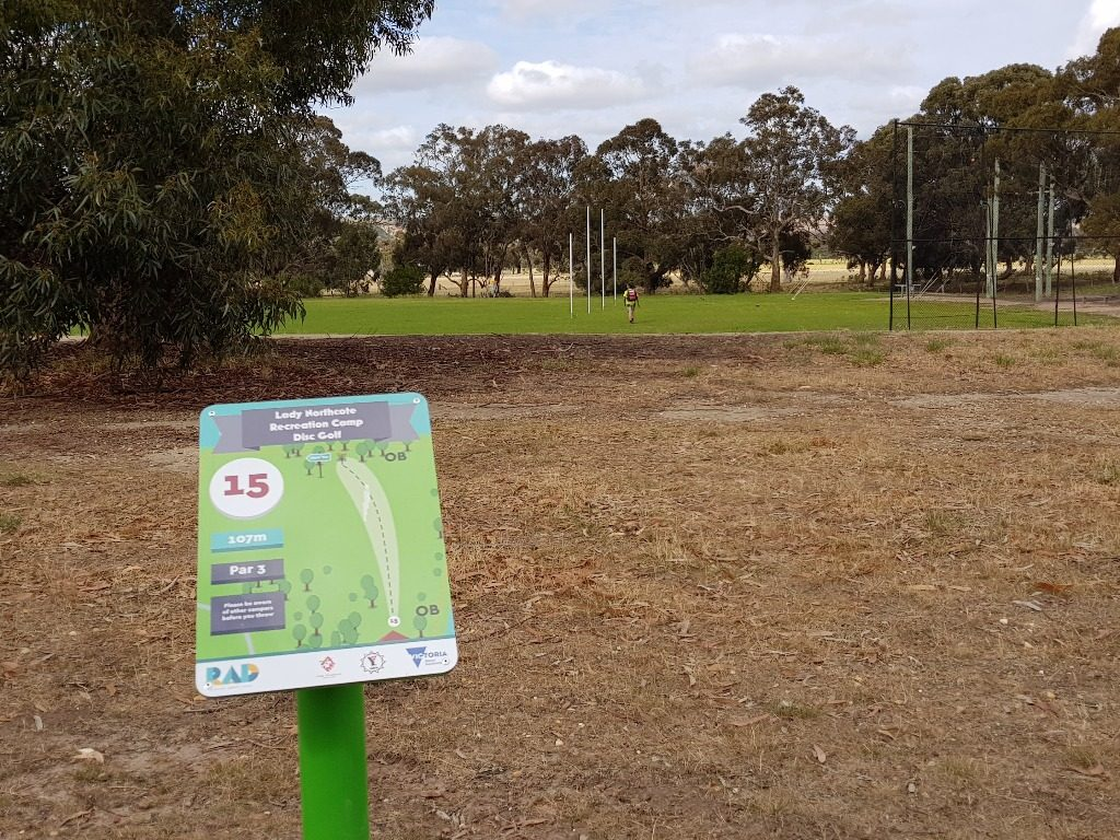 an image of a map of Lady Northcote disc golf course map