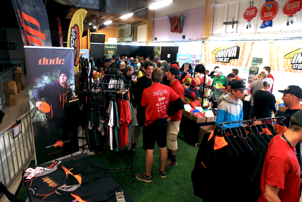 an image of an event selling disc golf apparel
