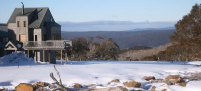 an image of a snowy disc golf park