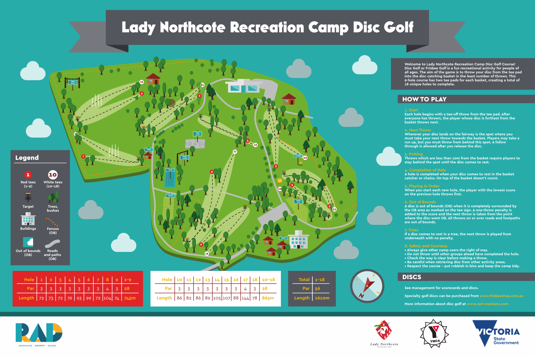 image of Lady Northcote Recreation Camp Disc Golf map