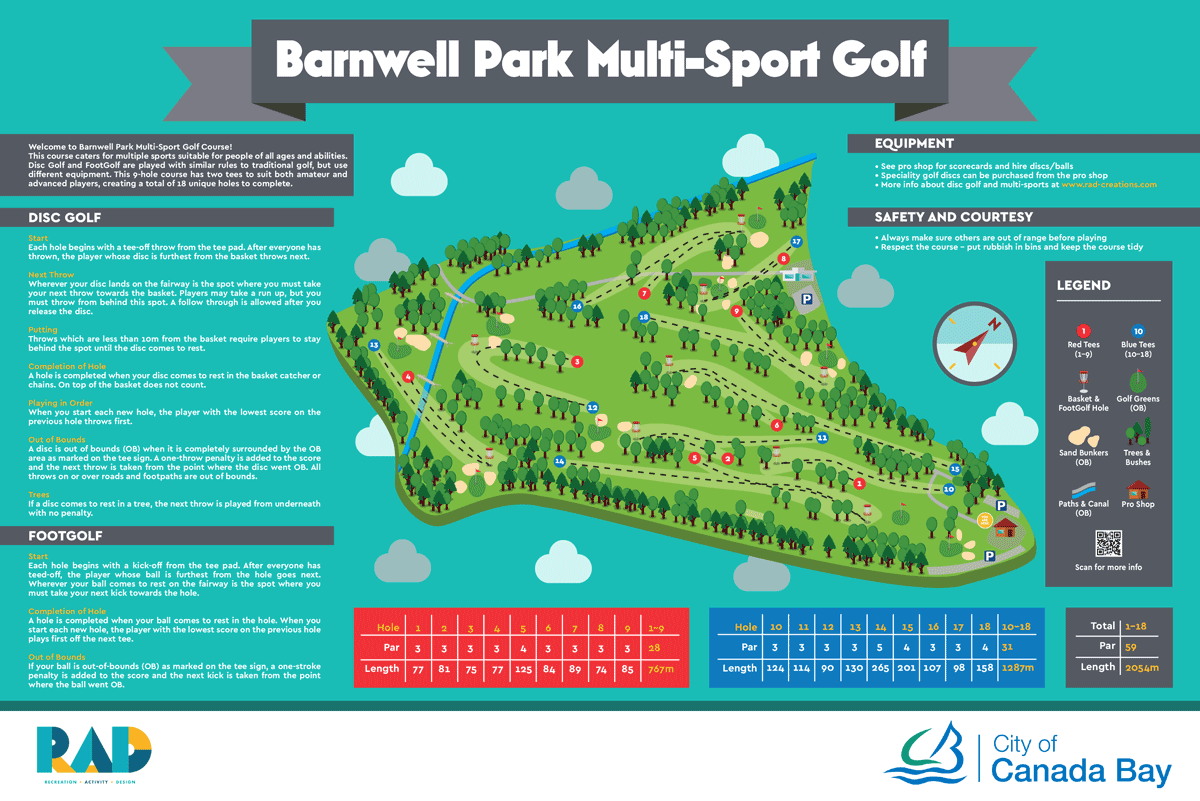 image of Barnwell Park Disc Golf sign